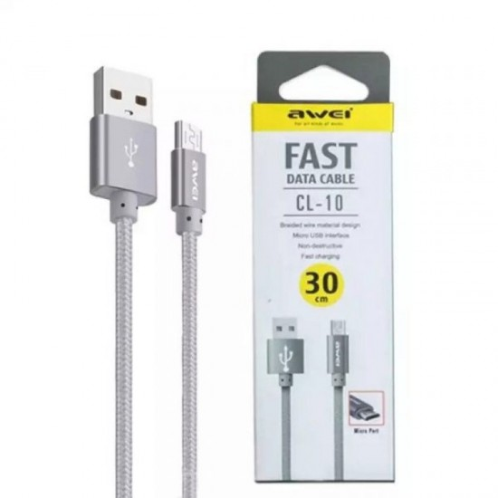 Awei CL-10 30CM MICRO FAST DATA CABLE