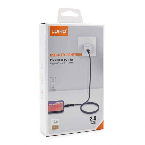 LDNIO LC962 USB-C To Lightning 18W PD Fast Charging Data Cable For iPhone
