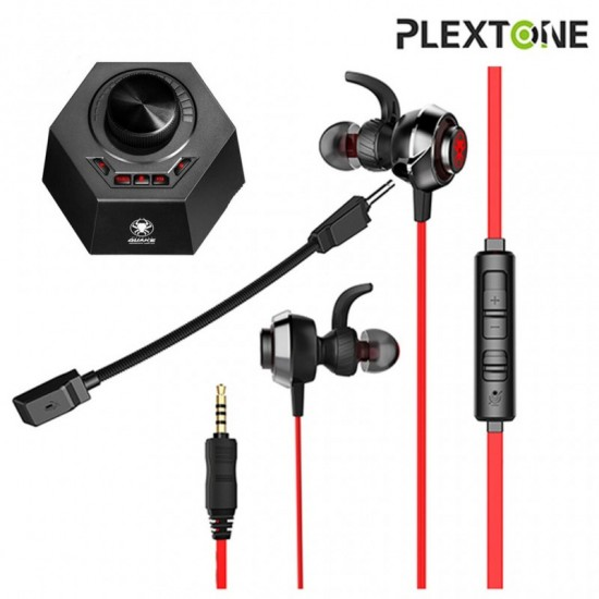 PLEXTONE G50 GameDSP Gaming Earphones with Mic Noise Reduction with Quake Sound Amplifier