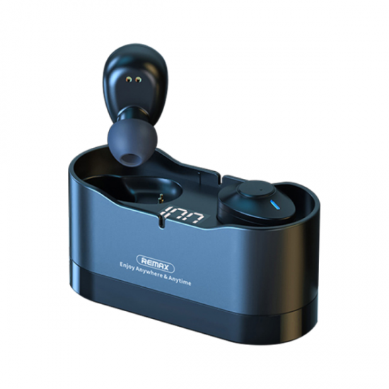 REMAX TWS-22 TRUE WIRELESS STEREO IN-EAR EARBUDS 5.0 with Built-In Charging Cable & LED Digital Power Display