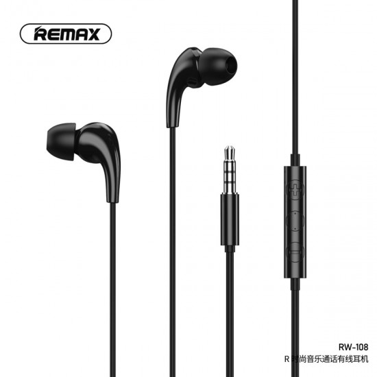 REMAX RW-108 Fashion Music Call Wired Earphone