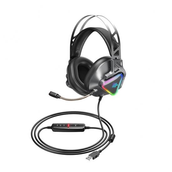 REMAX RM-810 WARGOD SERIES USB RGB LIGHTING GAMING HEADPHONE