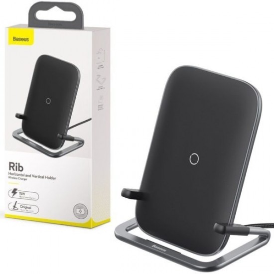 Baseus BS-W502 Fast Charging Rib Horizontal & Vertical Holder Wireless Charger 15W High Power Output