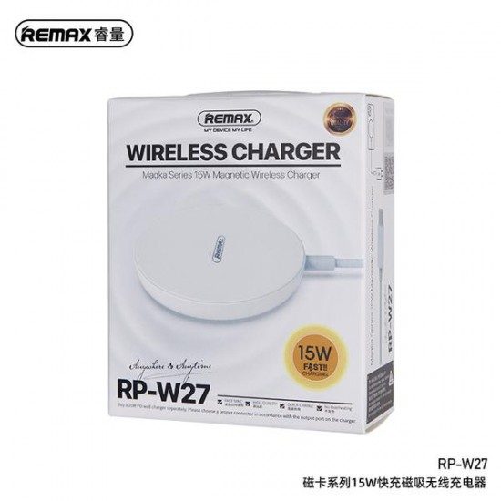REMAX RP-W27 Magka Series 15W Fast Charging Magnetic Wireless Charger