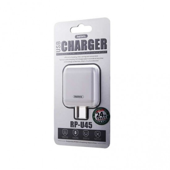 REMAX RP-U45 QC3.0 24W Fast Charging Adapter CN (White)
