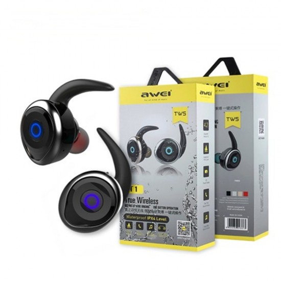 Awei T1 TWS True Wireless Bluetooth Waterproof Earbuds