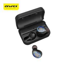 Awei T3 Waterproof True Wireless Bluetooth Earbuds With Charging Case