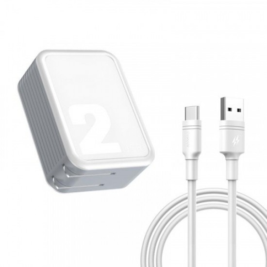 Baseus TZCAYJ-02 Brand Travel Charger 2.1A Adaptor with Cable