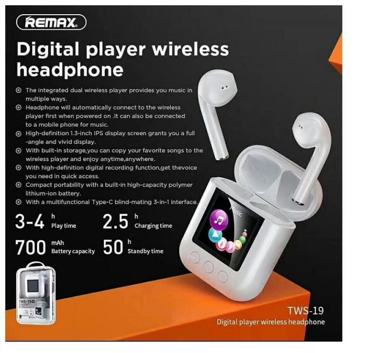 RemaxDigitalPlayerWirelessHeadphoneTWS 19